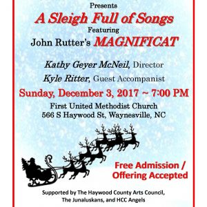 December 2017 Concert Flyer