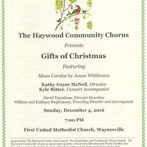 Gifts of Christmas Program Cover