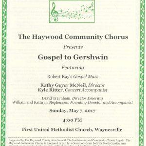 Gospel to Gershwin Program Cover