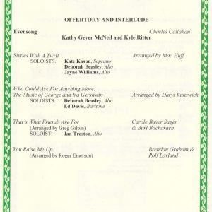 Gospel to Gershwin Program details 2