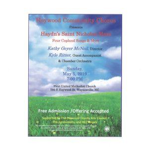 Haydn's St. Nicholas Mass Flyer