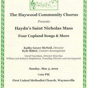 Haydn's St. Nicholas Mass Program Cover
