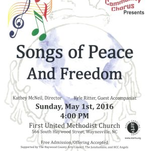 Songs of Peace and Freedom Flyer