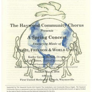 Songs of Peace and Freedom Program Cover