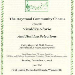 Vivaldi's Gloria Program Cover